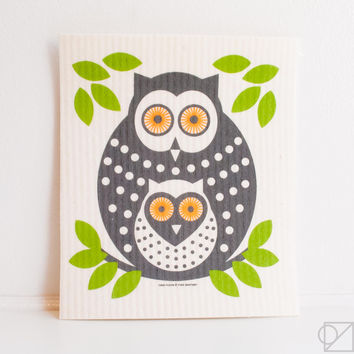 Swedish Dishcloth Owls