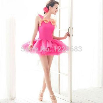 LMF78W Free Shipping New 2015 Colorful Purfle Toddler Ballet Clothes Tutus Teens Kids Ballet Dresses For Girls