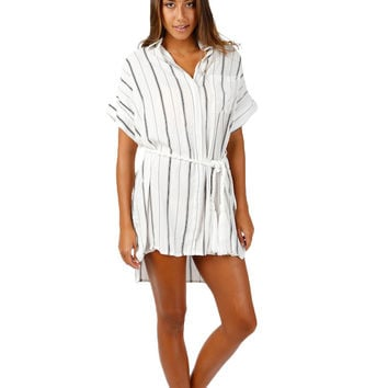 Faithfull The Brand Castaway Dress in St. Barths Stripe