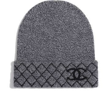 Cashmere Charcoal Beanie | CHANEL