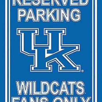 Kentucky Wildcats RESERVED Large 12x18 Plastic Wall Parking Sign University of
