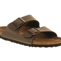 Birkenstock Arizona Two Strap Sandals Mocha Birko Flor - Sandals
