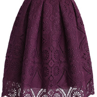 Purple Dream Full Lace Skirt Purple