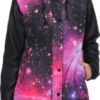 Glamour Kills Freshies Pink Galaxy 10K Snowboard Jacket