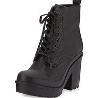 Hunter Original Grainy Leather Lace-Up Boot