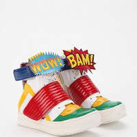 Jeffrey Campbell Bam-Wow Leather High-Top Sneaker