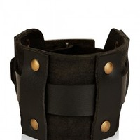 PUNK Cowboy Wrist Band - Buy Men's Black Bracelets / Wrist Bands online in India | KOOVS