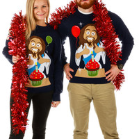 Happy ~2,000th Birthday, Jesus Ugly Christmas Sweater
