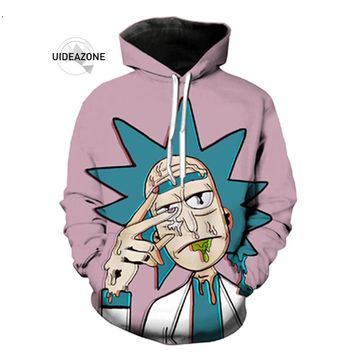 Rick and Morty Hoodies Men Women Funny Crazy Scientist Rick 3D Hoody Tops Brand Hip Hop Streetwear  Hoodie Sweatshirt Dropship
