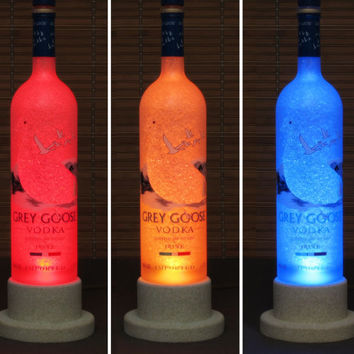 Grey Goose Vodka Color Changing Bottle Lamp Bar Light LED Remote Controlled Eco Friendly LED  French Vodka Bodacious Bottles
