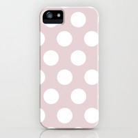 Dusty Pink Polka Dot Artsy Vintage  iPhone Case by shallwewed | Society6