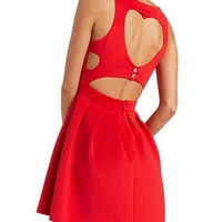HEART BACK SKATER DRESS