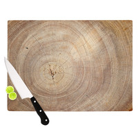 "Susan Sanders ""Aging Tree"" Wooden Cutting Board"