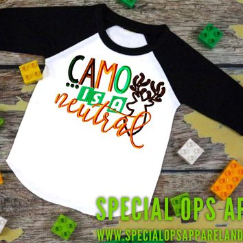 Camo is a neutral unisex design newborn to adult
