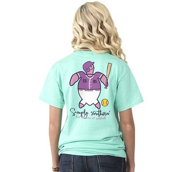 "Youth Simply Southern Turtle ""Softball"" Short Sleeve Tee"