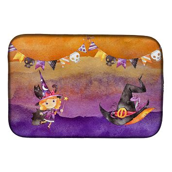 Halloween Little Witch Party Dish Drying Mat BB7462DDM