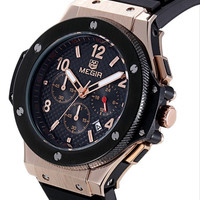 Megir Chronograph & 24 Hours Function  Luxury Men Watch