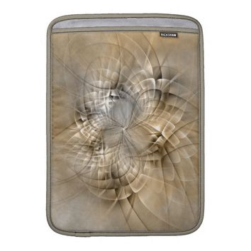 Earth Tones Abstract Modern Fractal Art Texture Sleeve For MacBook Air
