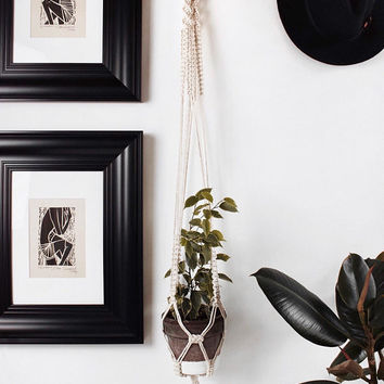 Macrame plant hanger/ Macrame wall hanging/ Decor wall planter/ Macrame plant holder/ Boho wall hanging/ Indoor wall planter/ Air pot hanger
