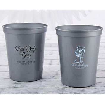 Personalized 16 oz. Stadium Cup - Wedding