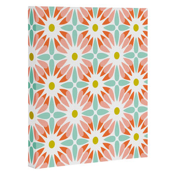 Heather Dutton Crazy Daisy Sorbet Art Canvas