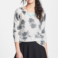Frenchi 'Floral Grunge' Tunic Pullover (J