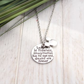 Mickey Mouse Dreams are forever Necklace