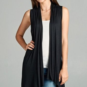 Easy Breezy Sleeveless Open Vest - More Colors!
