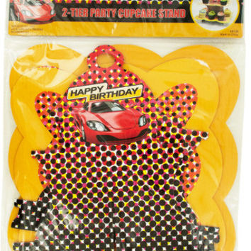 2 tier race car party cupcake stand Case of 24