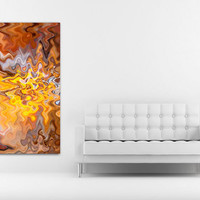 Instant Download Art, Art Wall Decor, Living Room Decor, Canvas Art Wall, Abstract Art, Wall Hanging, Orange Wall Art, Yellow Wall Decal