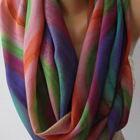 Dance of the Colors Collection....Infinity - Loop - Circle - Elegant - Feminine ....Summer - Shawl - Scarf