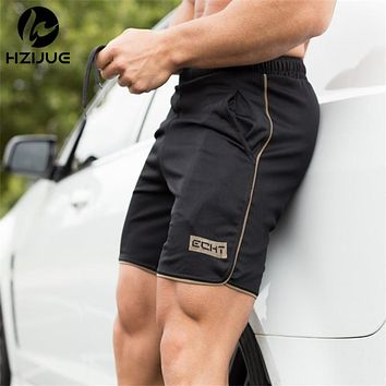 Summer Men Gyms Shorts Fitness Summer Bodybuilding Short Pants Beach Pants Elastic Waist Shorts