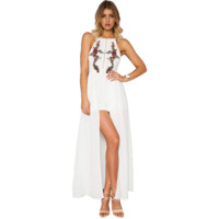 Harper Bohemian Embroidered Maxi Halter Dress / Romper