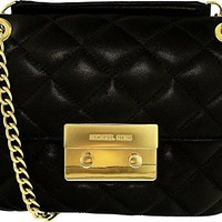 Michael Kors Women's Small Sloan Quilted Leather Shoulder Bag Leather Top-Handle Bag Satchel