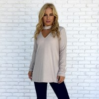 Soft & Simple Sweater Top in Cream