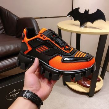 Prada Men's Casual Shoes Boots fashionable casual leather Sneakers Running Shoes