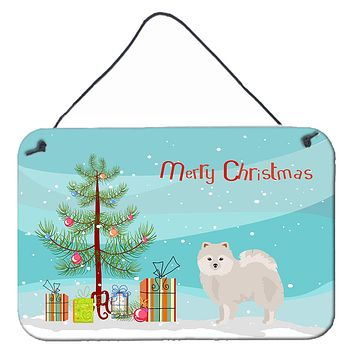 Japanese Spitz Christmas Tree Wall or Door Hanging Prints CK3463DS812