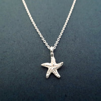 Sterling Silver, Starfish, Necklace