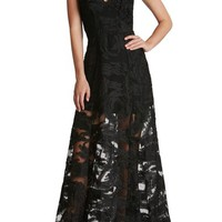 Dress the Population 'Florence' Woven Fit & Flare Gown | Nordstrom