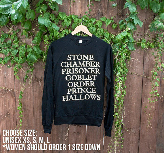 Unisex Harry Potter Inspired Sweater - Choose Size - MADE TO ORDER - American Apparel