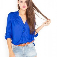 Blue Sky Blouse - NASTY GAL