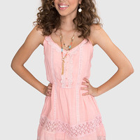 Avery Lace Dress - Peach