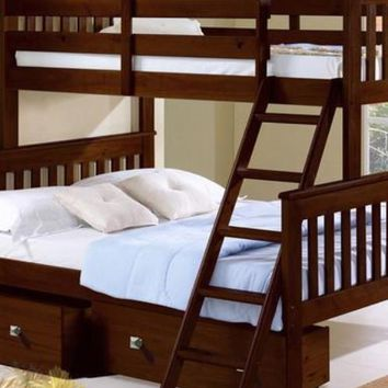 Hunter Twin over Full Cappuccino Bunk Bed