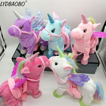 Search For Flights Vip Link Singing And Walking Unicorn Electronic Plush Robot Horse Electronic Unicornio Plush Animal Toy Kid Child Christmas Gift Toys & Hobbies
