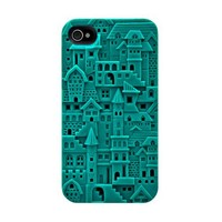 SwitchEasy SW-CHA4S-TU Avant-garde Hard Case for iPhone 4 & 4S - 1 Pack - Case - Retail Packaging - Chateau - Turquoise