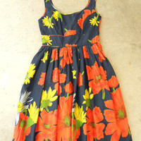 Floating Poppy Dress in Navy [2673] - $42.00 : Vintage Inspired Clothing & Affordable Fall Frocks, deloom   Modern. Vintage. Crafted.