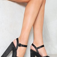 Leading Lady Satin Platform