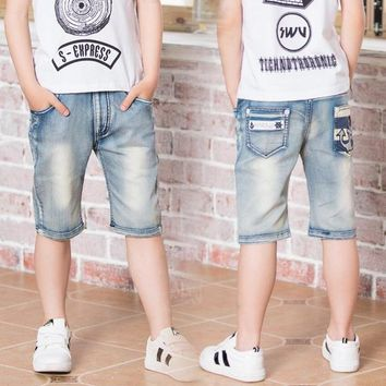 Hot Shorts Boy's , summer boys pants, ripped jeans. Kids knee water to wash jeans Boy. for: 3 4 5 6 7 8 9 10 11 13 14 years oldAT_43_3