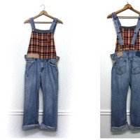 Denim Overalls, Distressed Denim Overalls, Boho Overalls, Patchwork Overalls, Funky Overalls, Upcycled Clothing