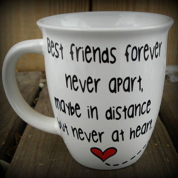 Long Distance Best friends forever Mug. Bestfriend Custom Made Mug, Best Friend Gift. Long Distance Relationship